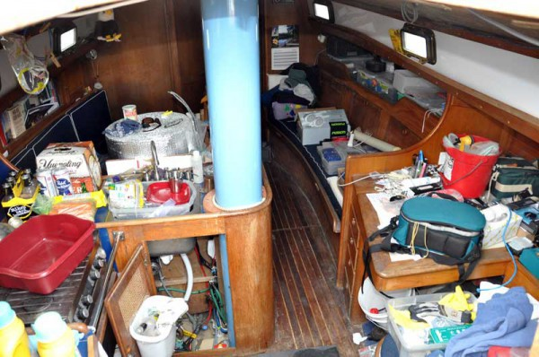 clutter on boat for sale