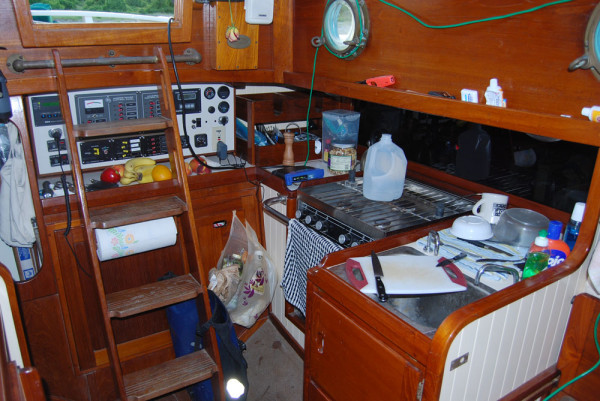 dirty galley - boat for sale