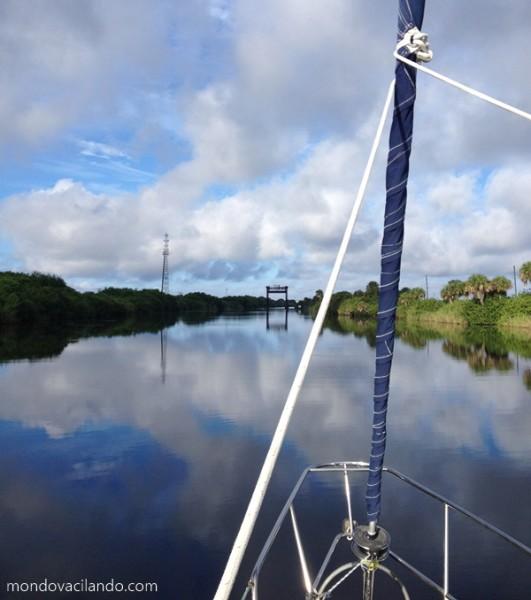 The infamous 49 foot bridge on the Okeechobee waterway