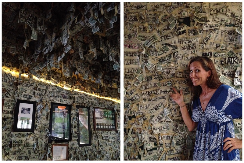 Cabbage Key Inn - money on the walls