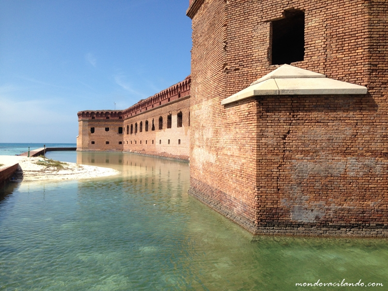 The mout that surrounds Fort Jefferson in the Dry Tortugas