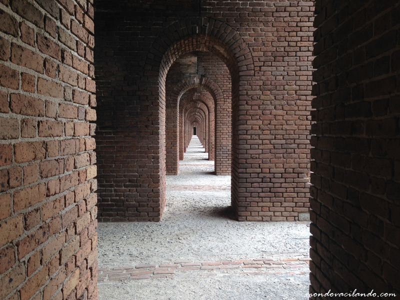 Inside the fort at Fort Jefferson in the Dry Tortugas