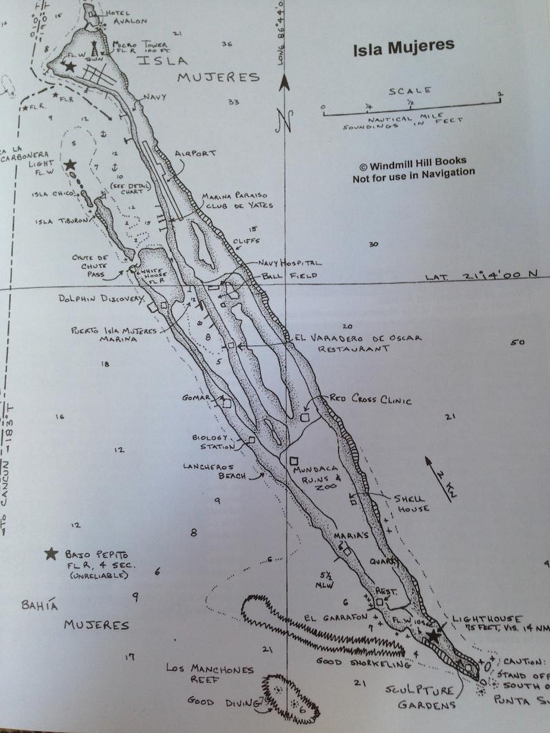 Isla Mujeres map chart